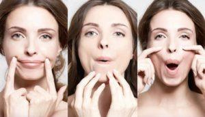 Упражнение для подтяжки щек